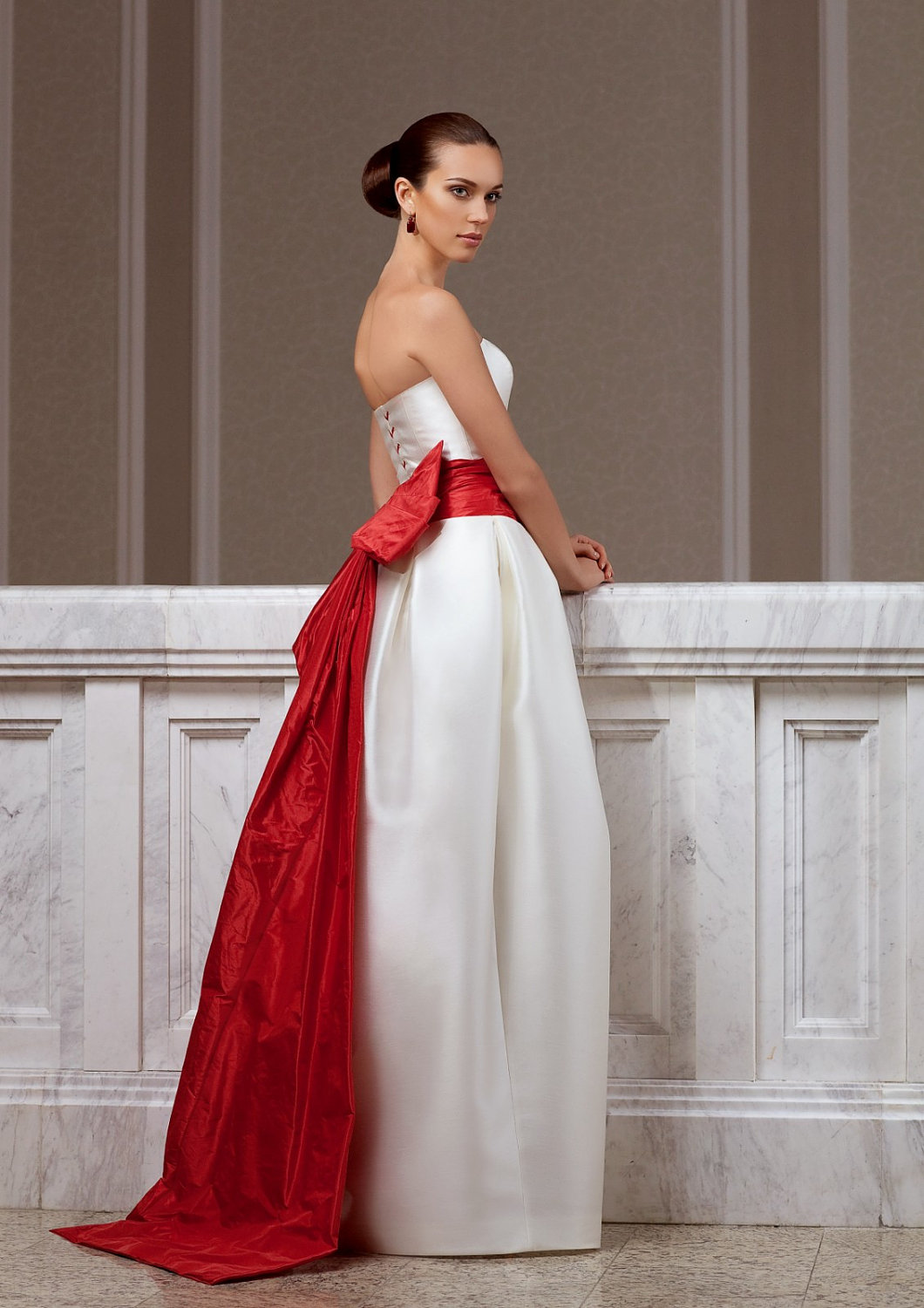 Red Sash On Wedding Dress Meaning: Rolling flower sweetheart ...