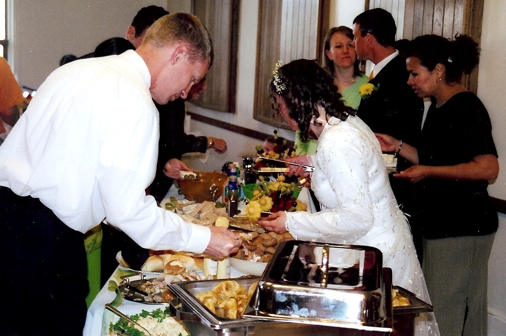 We also cut many of the ceremony costs and reception center costs because in