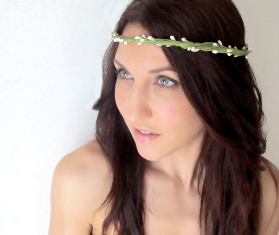Boho Woodland Wedding Hair Crown JESS from deLoop