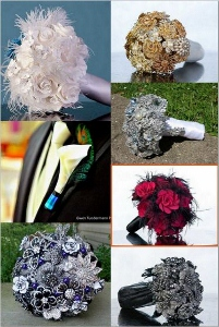 Alternative Bouquets and Jeweled Bridal Accessories