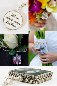 Personalized Photo Jewelry, Bouquet Memorial Charms