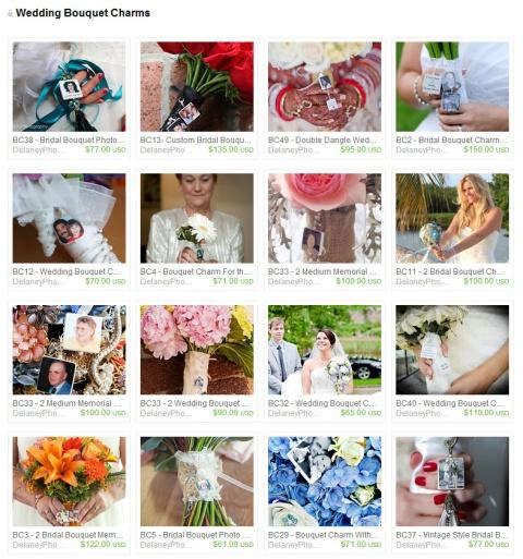 Wedding Bouquet Charms by Keri O Hara on Etsy