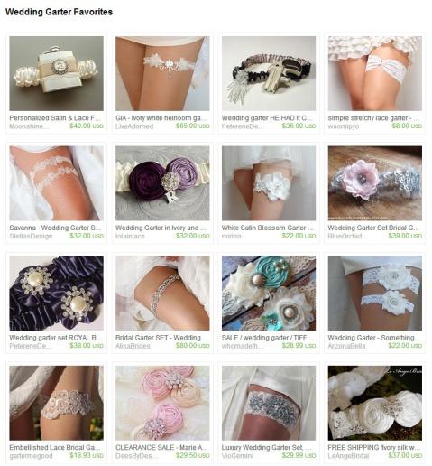 Wedding Garter Favorites by Keri O Hara on Etsy