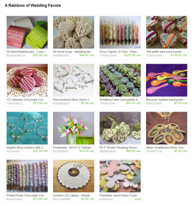 A Rainbow of Wedding Favors by Jennifer Ferencz Barato on Etsy