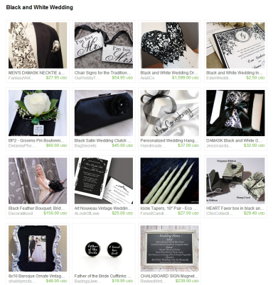 Black and White Wedding by Jennifer Ferencz Barato on Etsy