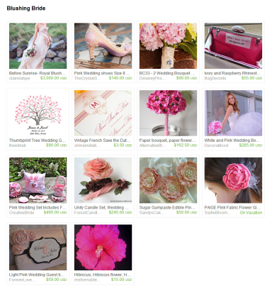 Blushing Bride by Jennifer Ferencz Barato on Etsy