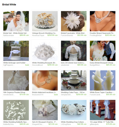 Bridal White by Jennifer Ferencz Barato on Etsy