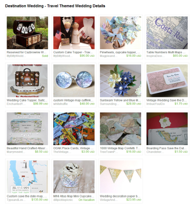 Destination Wedding   Travel Themed Wedding Details by Jennifer Ferencz Barato on Etsy