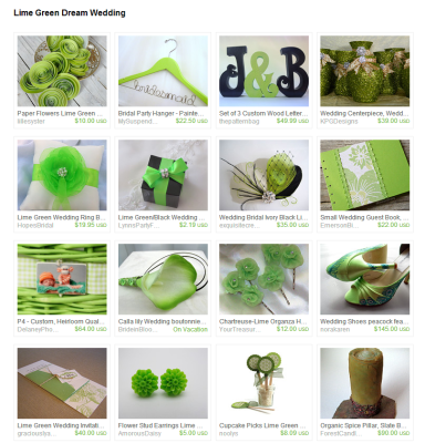 Lime Green Dream Wedding by Kristin Ames on Etsy