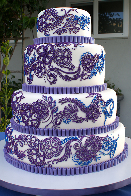 purple paisley cake