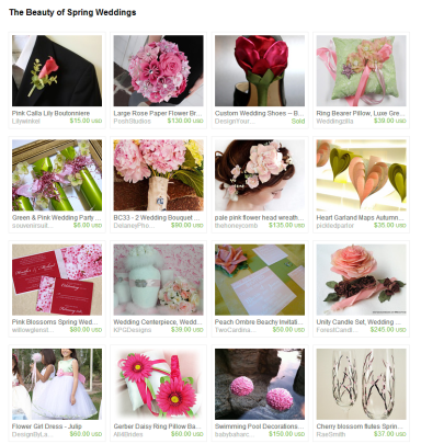 The Beauty of Spring Weddings by Jennifer Ferencz Barato on Etsy