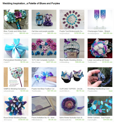 Wedding Inspiration...a Palette of Blues and Purples by Jennifer Ferencz Barato on Etsy