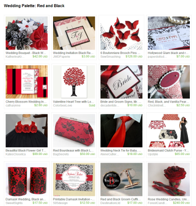 Wedding Palette  Red and Black by Jennifer Ferencz Barato on Etsy