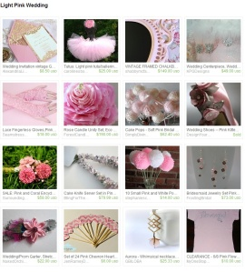 Light Pink Wedding by Kristin Ames on Etsy