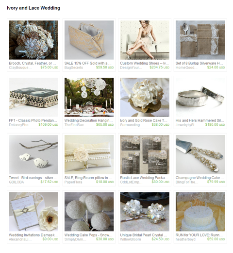 Ivory and Lace Wedding by Carrie and Stephanie on Etsy