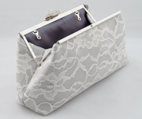 silver lace bag