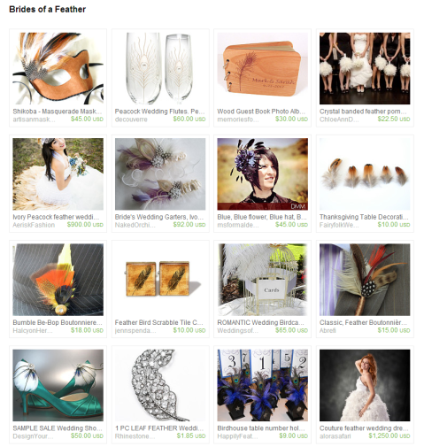 Brides of a Feather by Keri O Hara on Etsy
