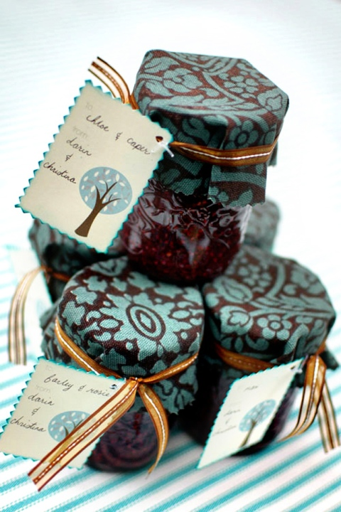 diy wedding favor jam