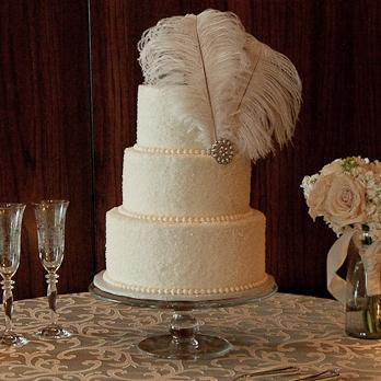 Feather Cake Topper by Kristin Danger Designs