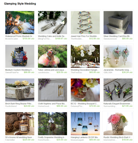 Glamping Style Wedding by Marcie Forest on Etsy