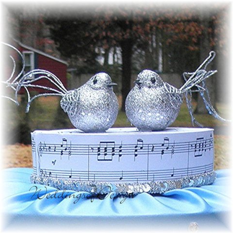 musicalbirdsweddingcaketopper