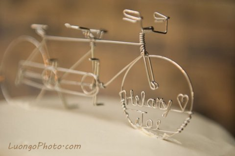 personalizedtandembikeweddingcaketopper