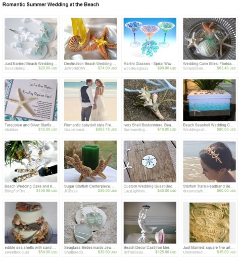 Romantic Summer Wedding at the Beach by Marcie Forest on Etsy