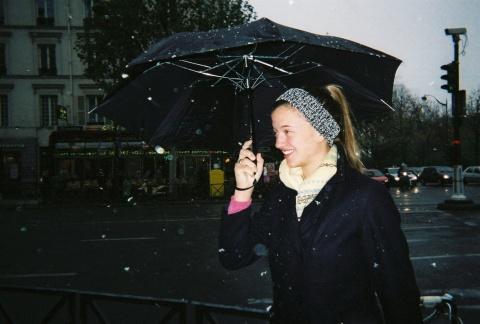 Katherine in the snow