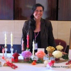 Marcie Forest exhibiting her Rose candles at ARS Rose Show (2)