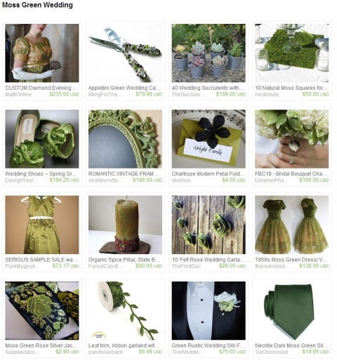 Moss Green Wedding by Steve Riley on Etsy