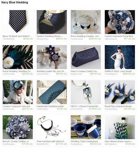 Navy Blue Wedding by Karen on Etsy