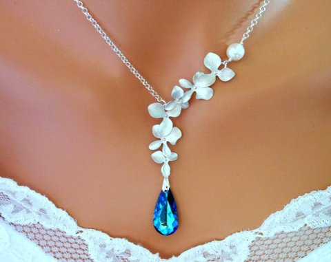 wedding necklace blue