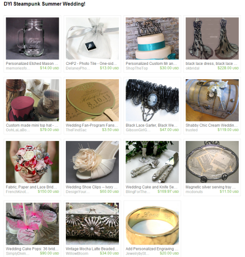 DYI Steampunk Summer Wedding  by dalynda marie on Etsy