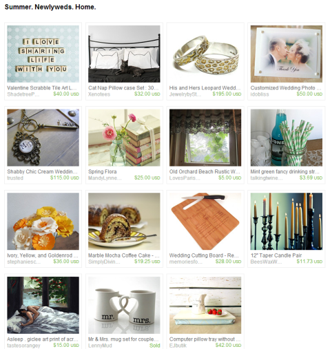 Summer. Newlyweds. Home. by Marcie Forest on Etsy