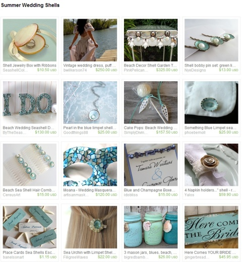 Summer Wedding Shells by Keri O Hara on Etsy