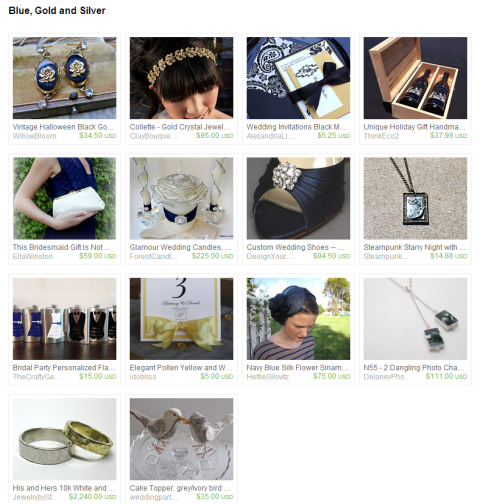 Blue Gold and Silver by the Wed Eclectic Team