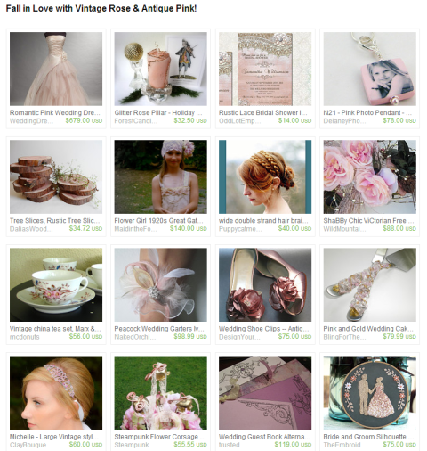 Fall in Love with Vintage Rose Antique Pink  by the Wed Eclectic team