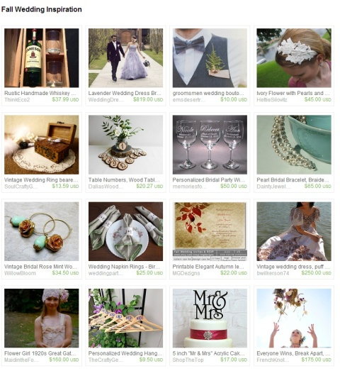 Fall Wedding Inspiration by Marcie Forest on Etsy