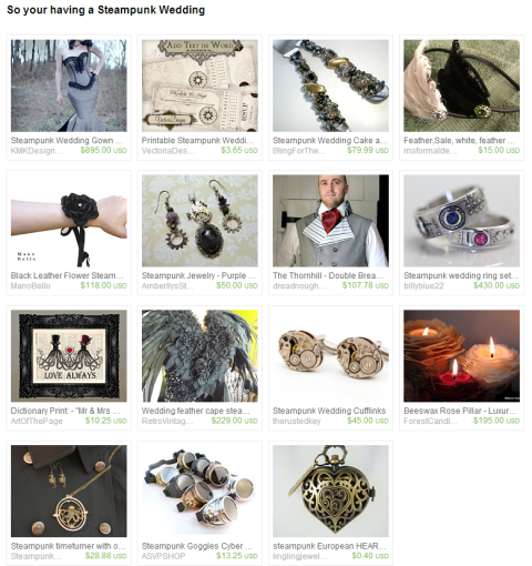 So your having a Steampunk Wedding by the Wed Eclectic team