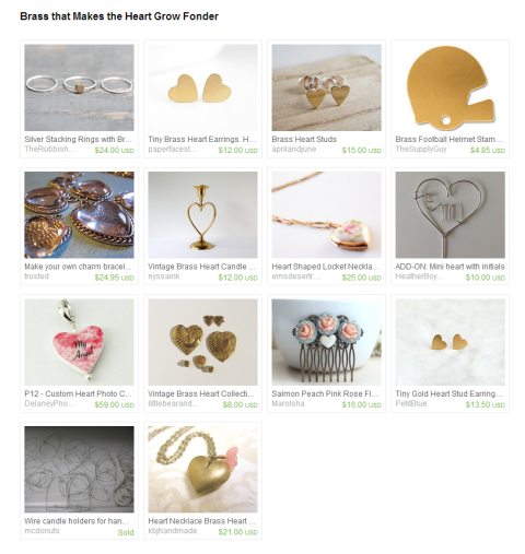 Brass that Makes the Heart Grow Fonder by Amanda on Etsy