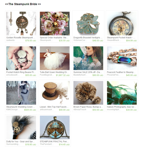 The Steampunk Bride    by Kelly Flegal on Etsy