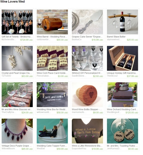 Wine Lovers Wed by Keri O Hara on Etsy