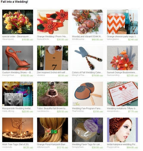 Fall into a Wedding  by Eva on Etsy