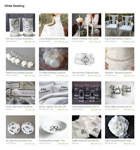 White Wedding by Keri O Hara on Etsy