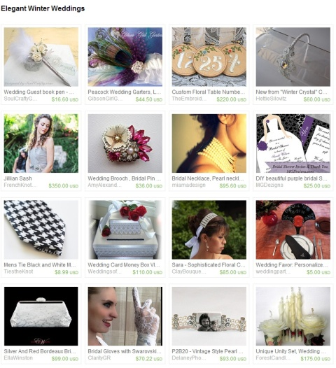 Elegant Winter Weddings by Eva on Etsy