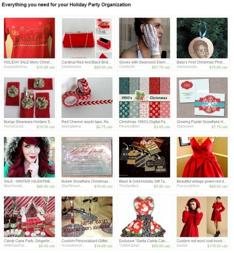 Everything you need for your Holiday Party Organization by Julie Farrell on Etsy