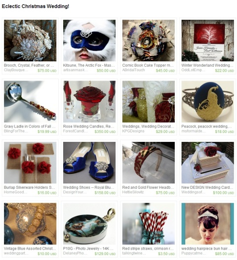 Eclectic Christmas Wedding  by Sadie Ruben on Etsy