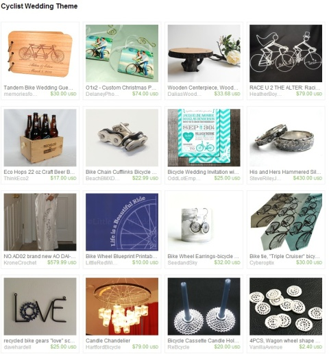 Cyclist Wedding Theme by dalynda marie on Etsy