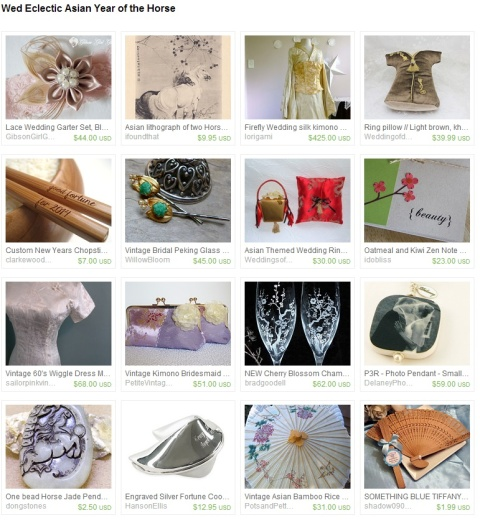 Wed Eclectic Asian Year of the Horse by dalynda marie on Etsy
